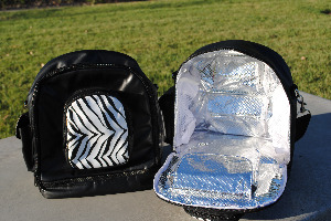 Zebra Pouch Backpack